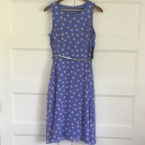 Jessica Howard NWT Purple & White Polka Dot  Dress